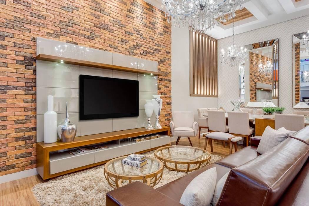 Salones modernos de Ideatto Móveis e Decorações Moderno