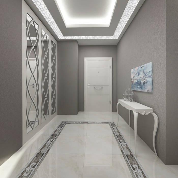 Gold Towers Konut Modern Koridor, Hol & Merdivenler Treso İç Mimarlık Modern