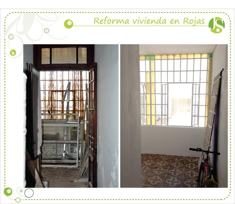 Antes y despues Paredes y pisos coloniales de Jimena Serradell Colonial