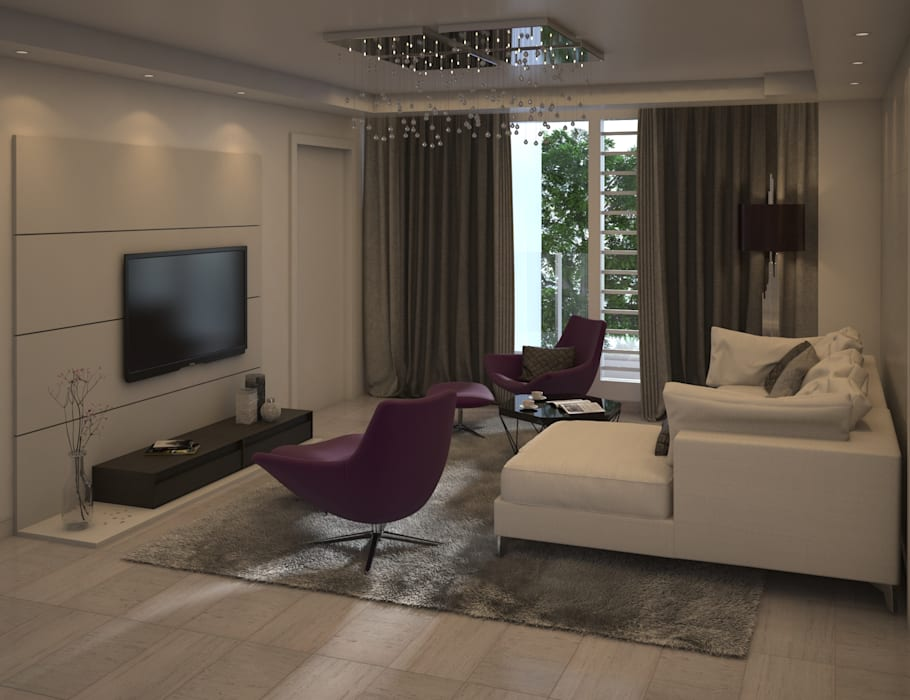 Modern Media Room by Gabriela Afonso Modern