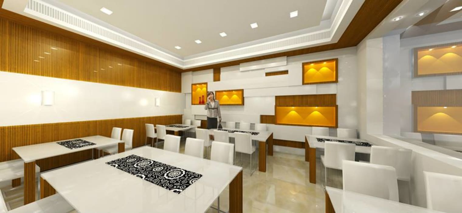 Shivam Hotel. Archsmith project consultant Modern dining room