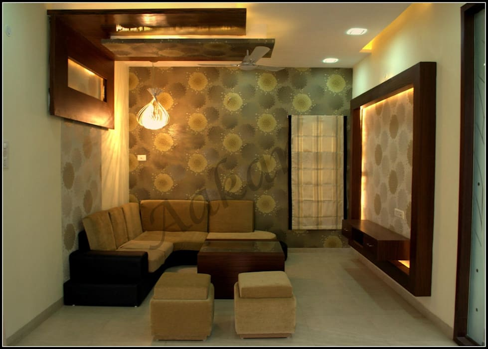 Interior Designs Modern living room by ESHA GARG : Interior Designer Modern