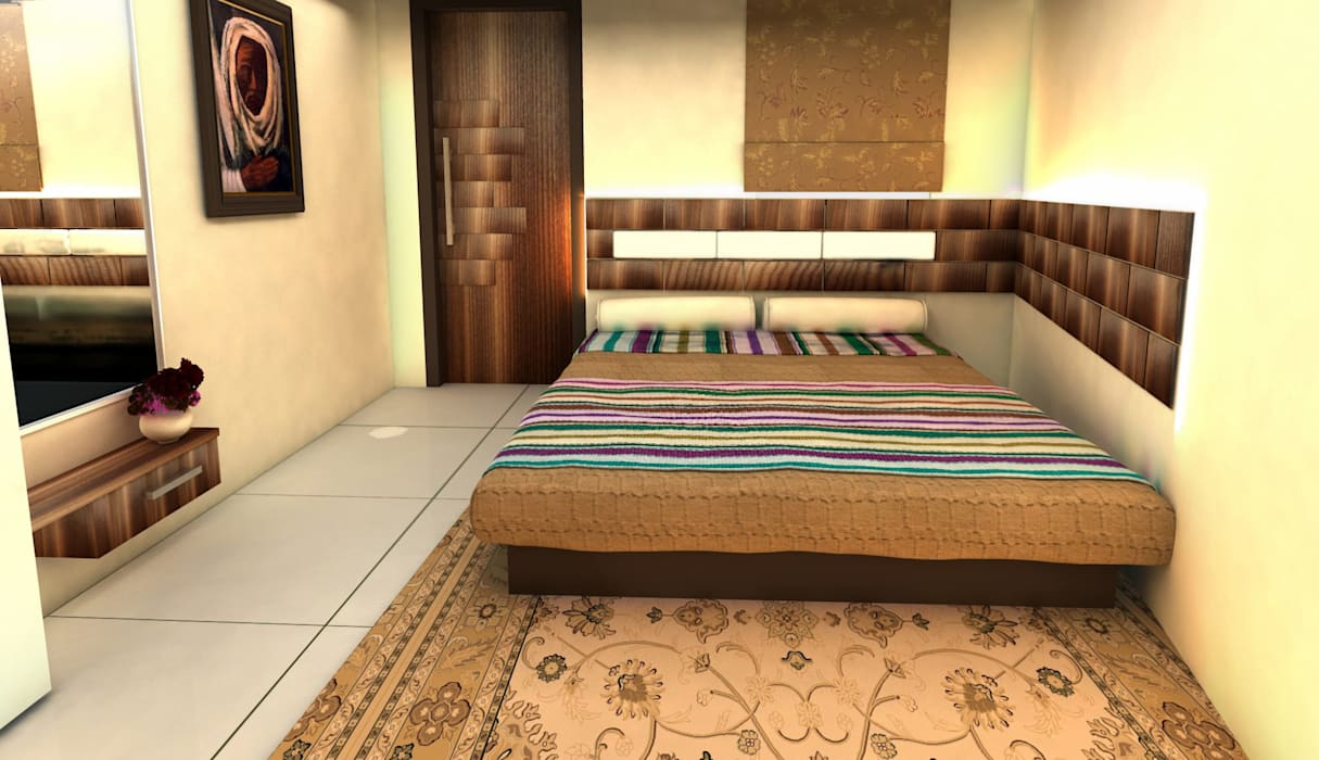 Interior Designs Modern style bedroom by ESHA GARG : Interior Designer Modern
