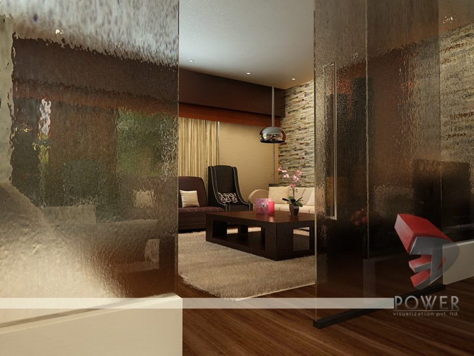 Interior project :  Living room by 3D Power Visualization Pvt. Ltd.,