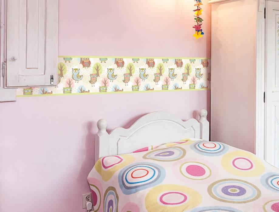Eulen bordüre fürs babyzimmer: modern von i-love-wandtattoo ...