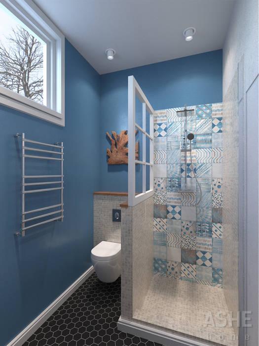 Таунхаус в Подмосковье Ванная комната в эклектичном стиле от Студия авторского дизайна ASHE Home Эклектичный