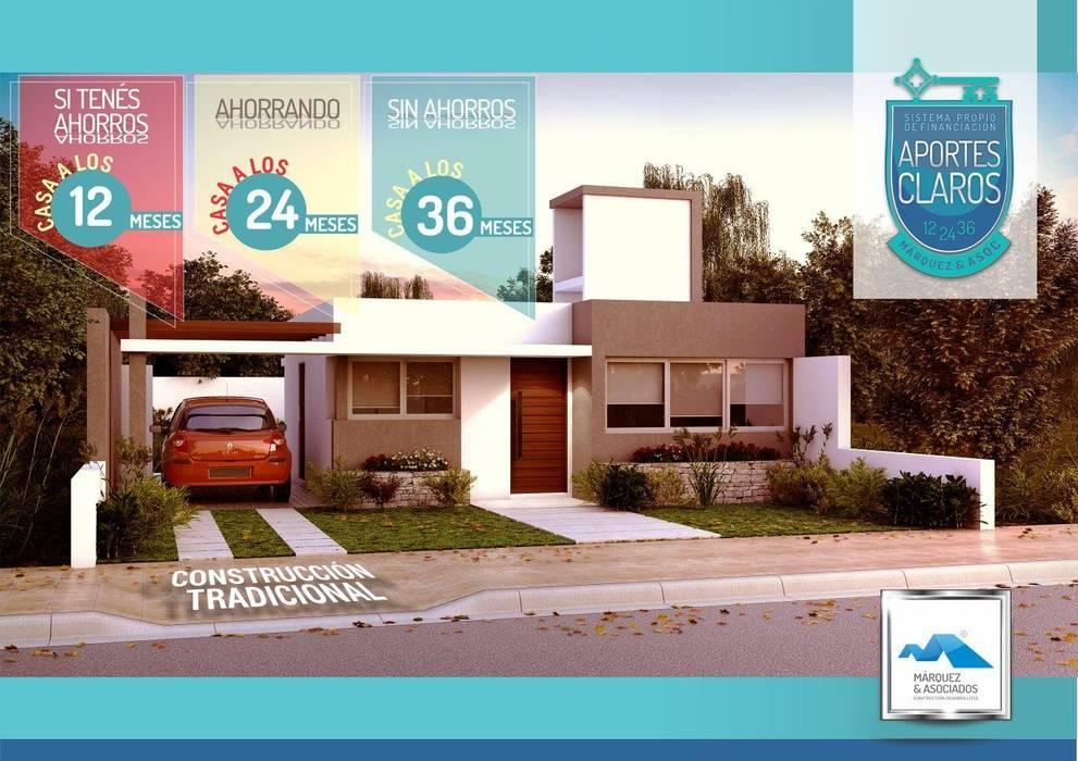 tipologia t : Casas de estilo  por Marquez&asociados