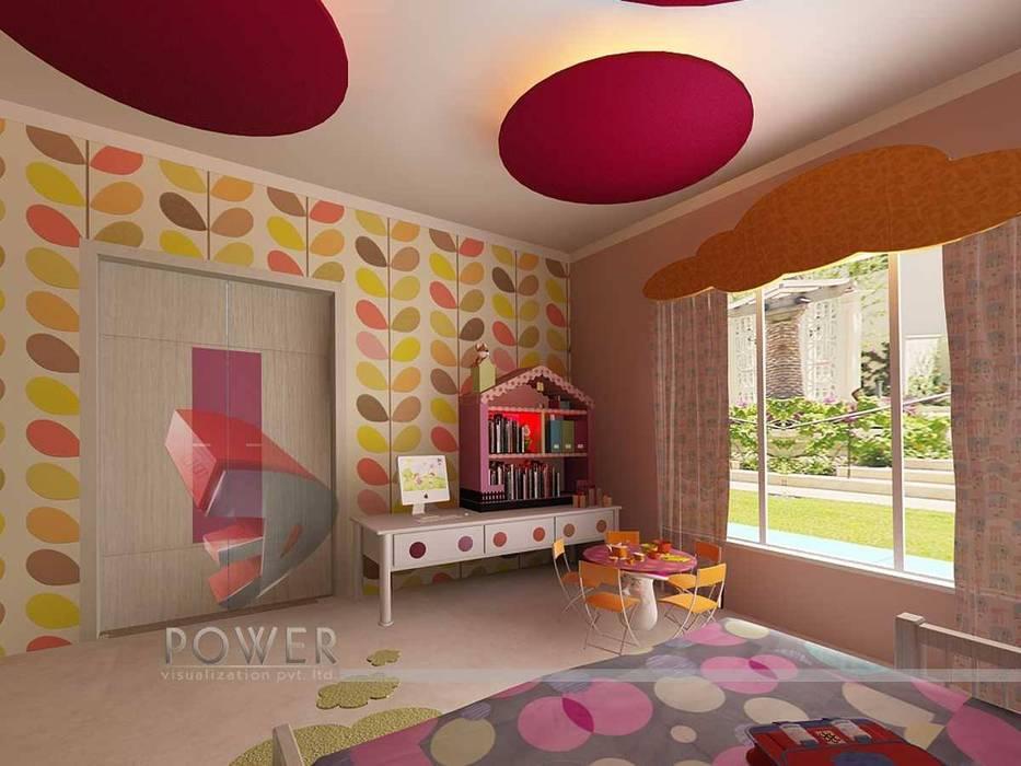 Children' Bedrooms 3D Power Visualization Pvt. Ltd. Modern nursery/kids room