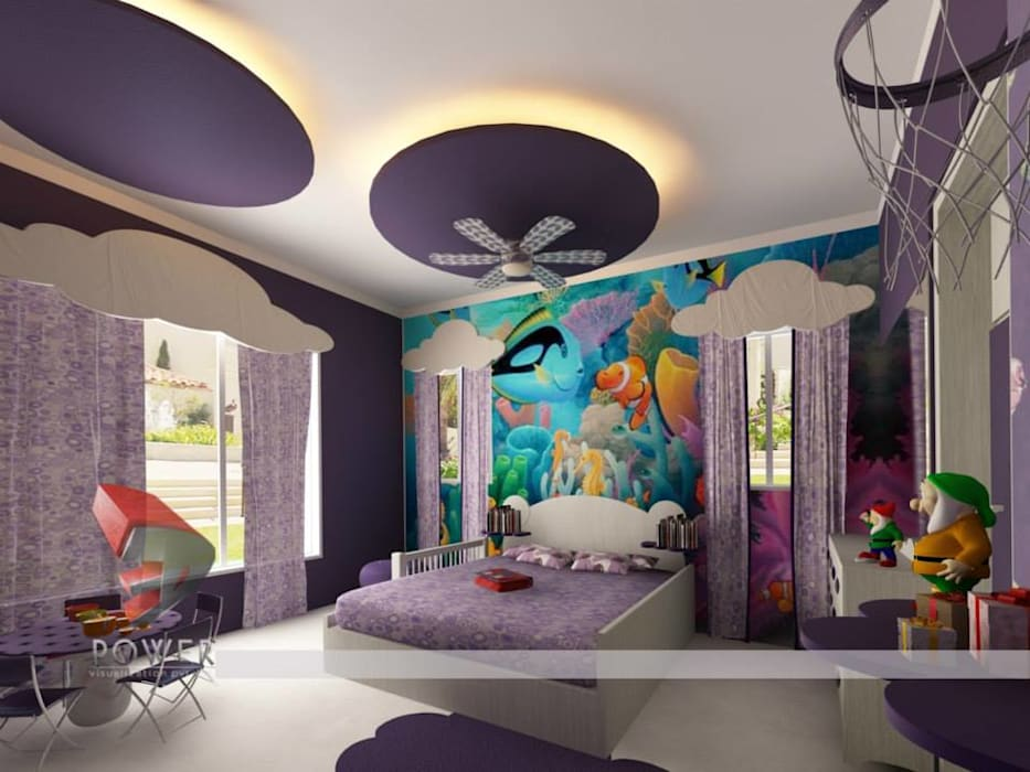 Children' Bedrooms 3D Power Visualization Pvt. Ltd. Modern nursery/kids room