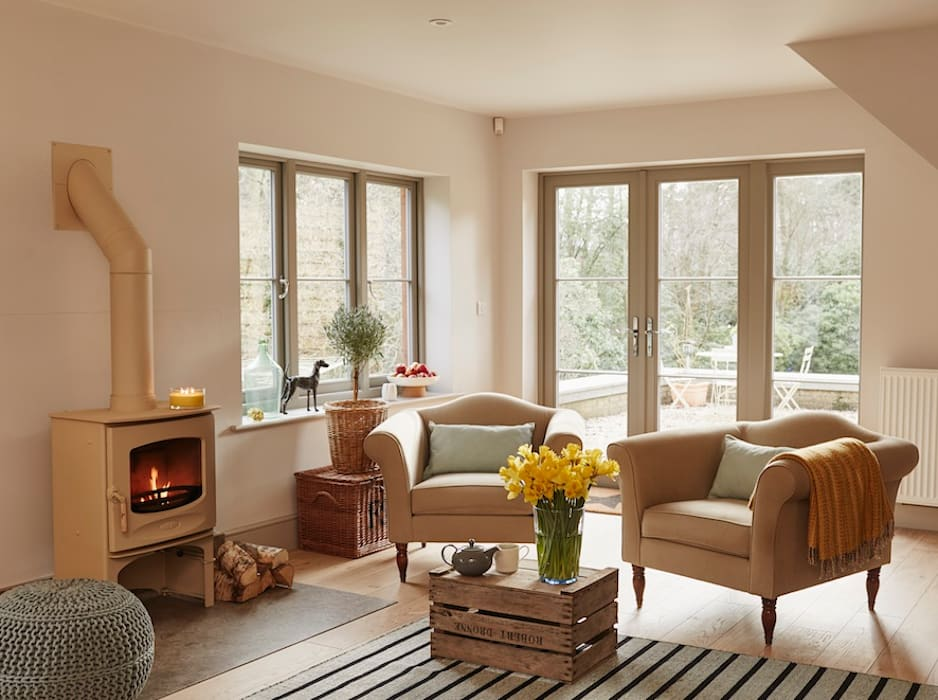 French doors Modern Windows and Doors by The Wood Window Alliance Modern Wood Wood effect