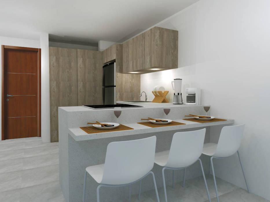 Cuisine moderne par ARCE FLORIDA Moderne Bois Effet bois