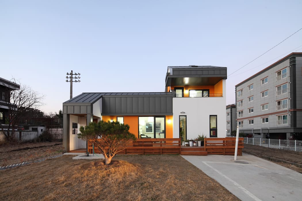 야경 모던스타일 주택 by 주택설계전문 디자인그룹 홈스타일토토 모던