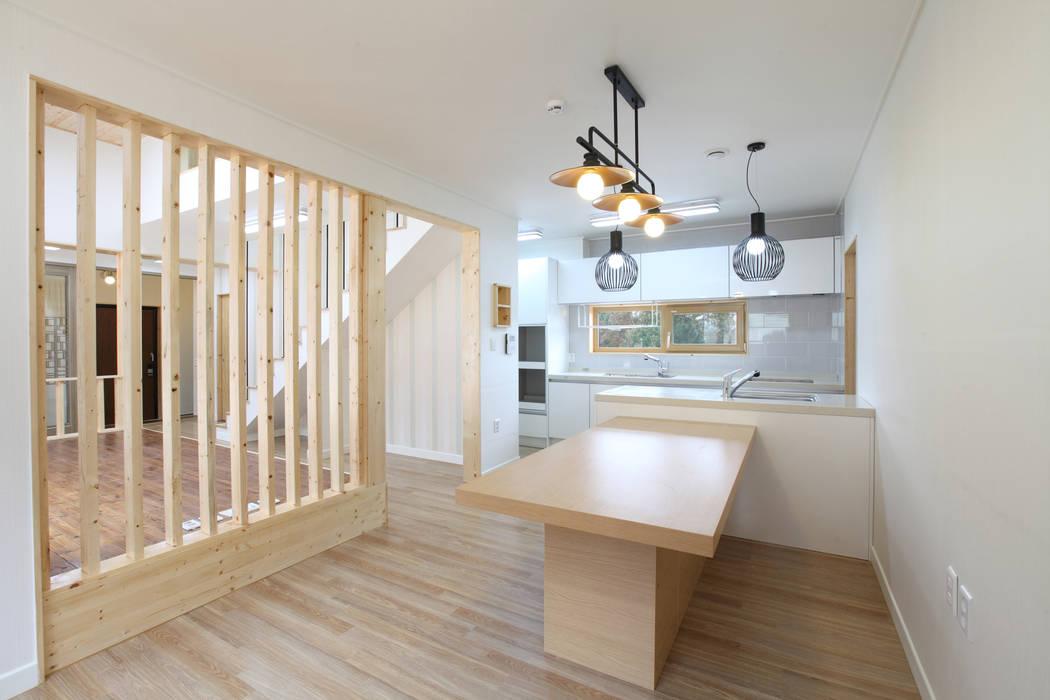 대면형주방: 주택설계전문 디자인그룹 홈스타일토토의  주방