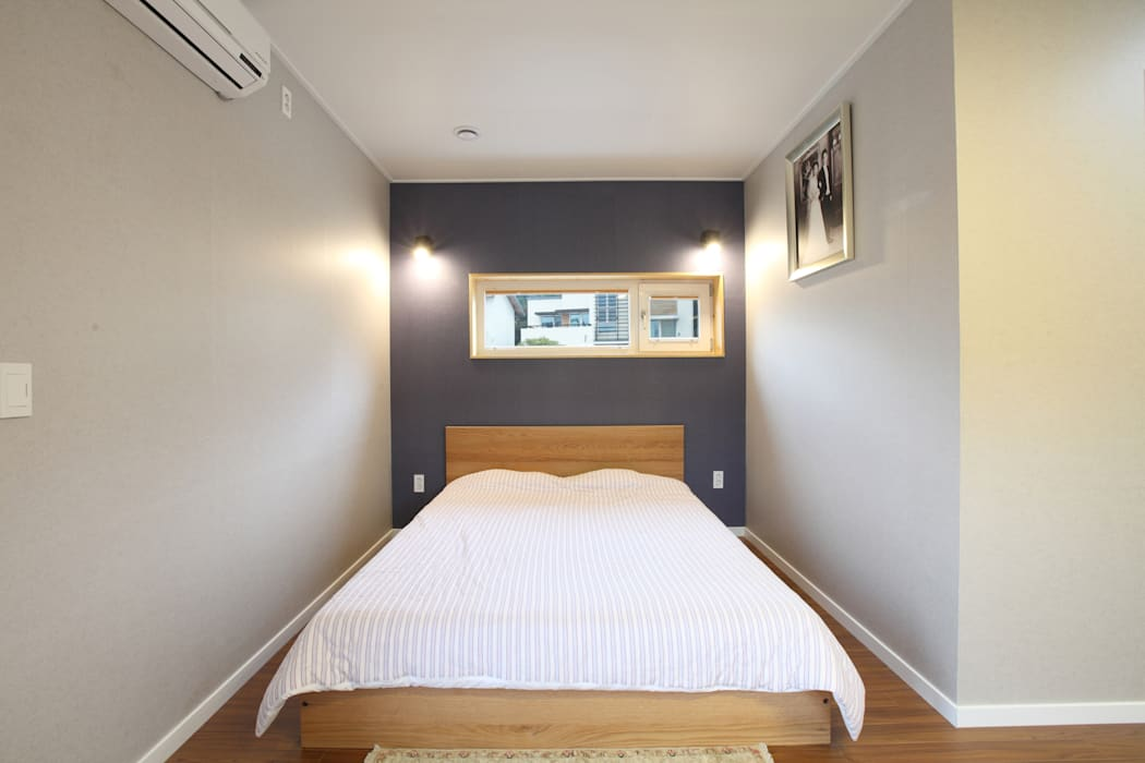컴팩트한 안방 침실 모던스타일 침실 by 주택설계전문 디자인그룹 홈스타일토토 모던