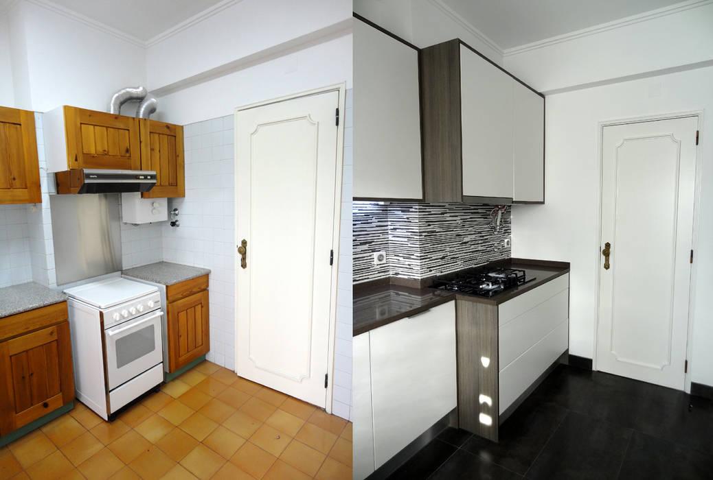Кухни в . Автор – Happy Ideas At Home - Arquitetura e Remodelação de Interiores, Модерн
