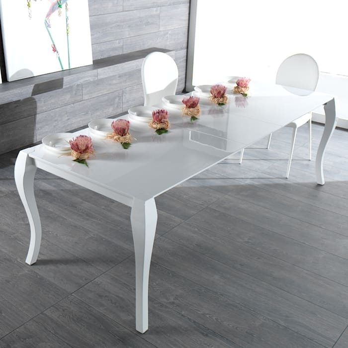 Extendable dining table made of wood Shining par Viadurini.co.uk Moderne