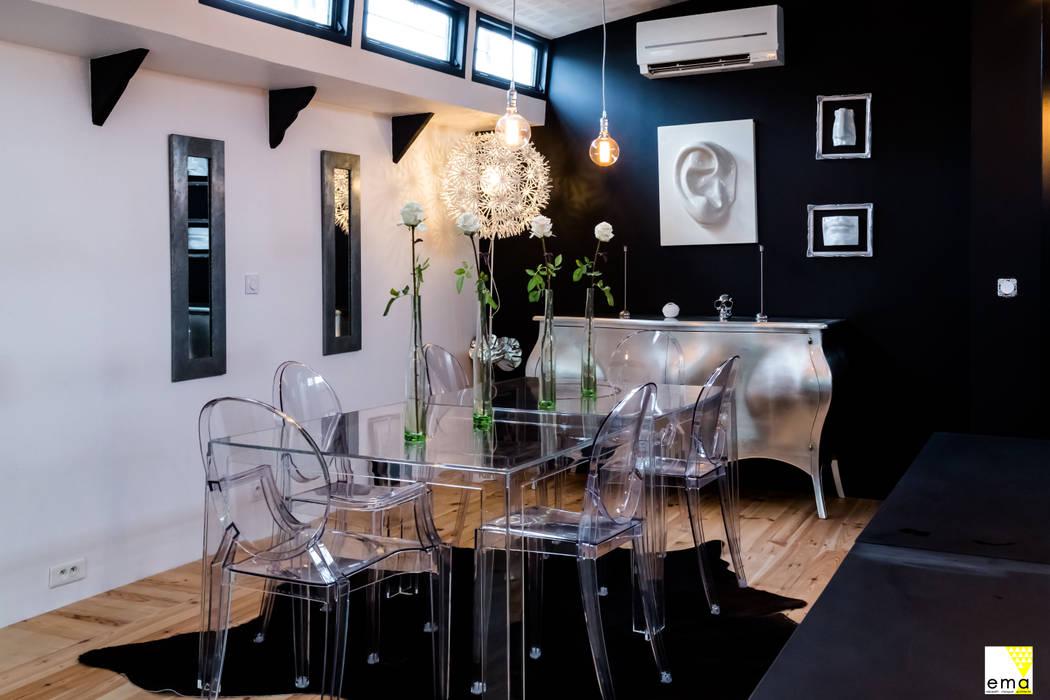 Vue de la salle à manger: Salle à manger de style de style Moderne par Elisabeth Manguin Architecte