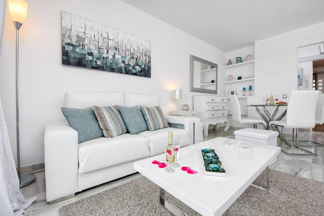 Apartamento con encanto Salones de estilo escandinavo de Espacios y Luz Fotografía Escandinavo