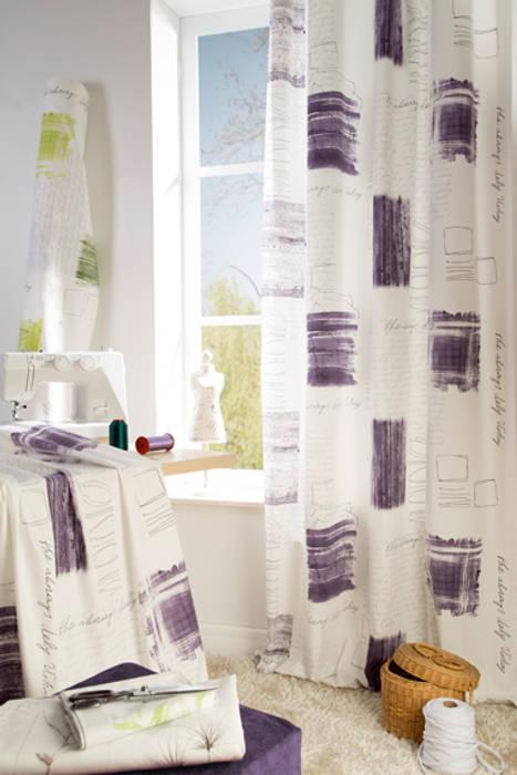 Indes Fuggerhaus Textil GmbH Windows & doors Curtains & drapes Textile Purple/Violet