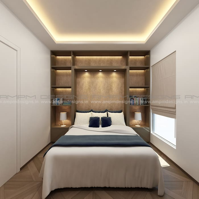 FOLDABLE STUDY /BED :  Bedroom by AMPM DESIGNS