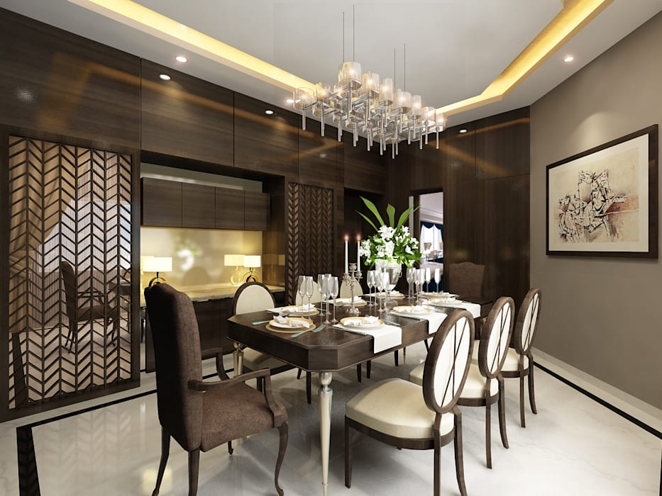DINING AREA: eclectic Dining room by AMPM DESIGNS