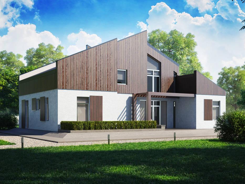 Casas de estilo moderno de Mild Haus Moderno Madera maciza Multicolor