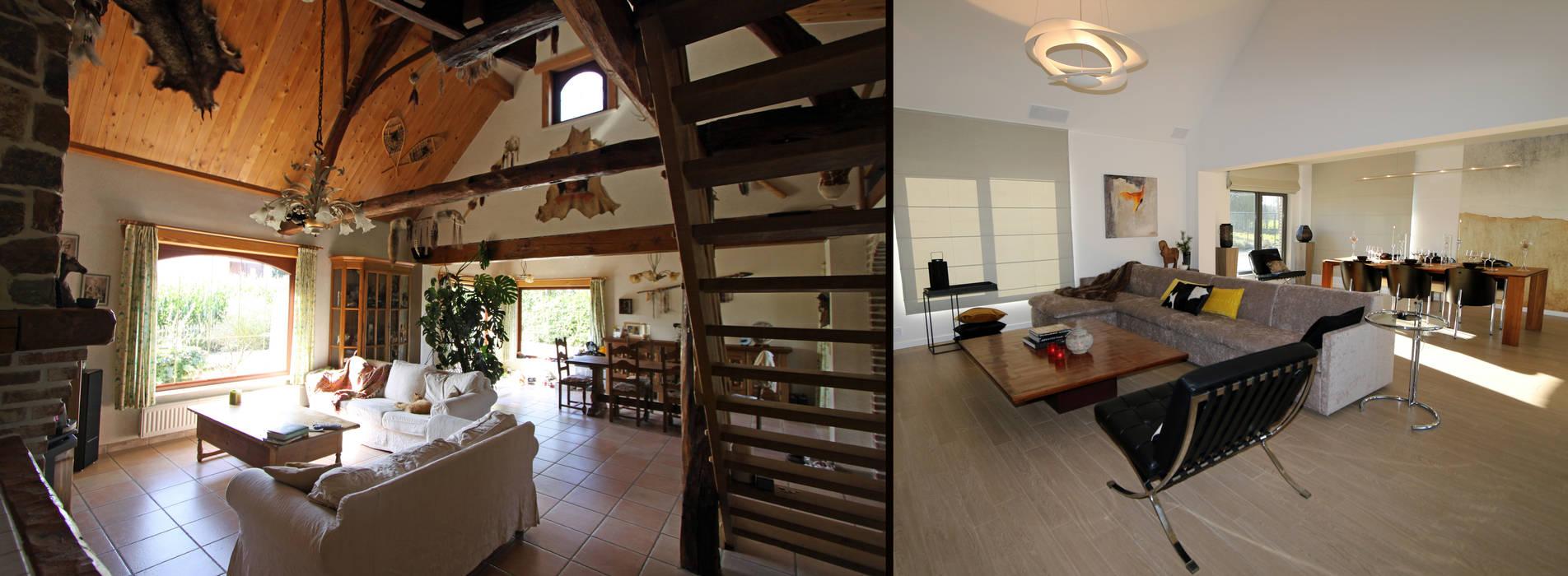 Fermette rustique se transforme en espace contemporain salon ...