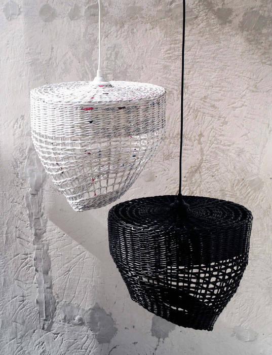 Zestaw abażurów Coffee & Milk Barbórka Design SypialniaOświetlenie Biały