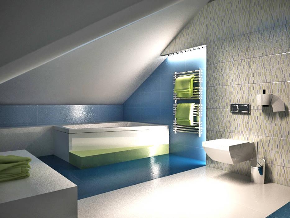 Dom prywatny Nowoczesna łazienka od INTUS DeSiGn Nowoczesny