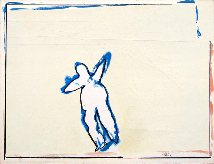 Bonhomme bleu: Salon de style de style Moderne par ahgraph