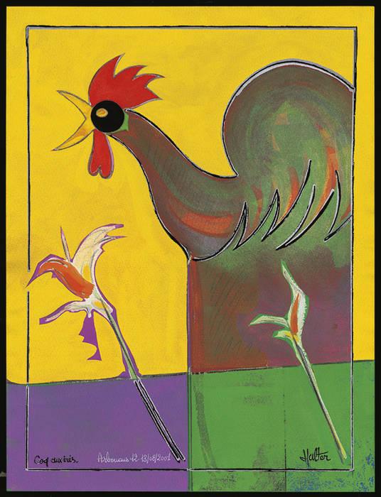 Coq aux iris: Salon de style de style Moderne par ahgraph
