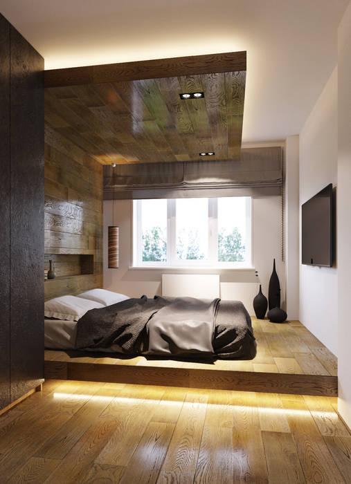 Спальня в азиатском стиле от homify Азиатский Дерево Эффект древесины