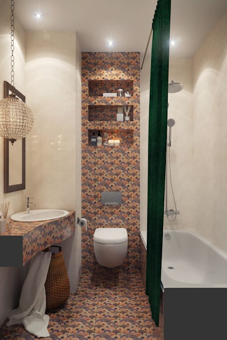 Asian style bathroom by homify Asian