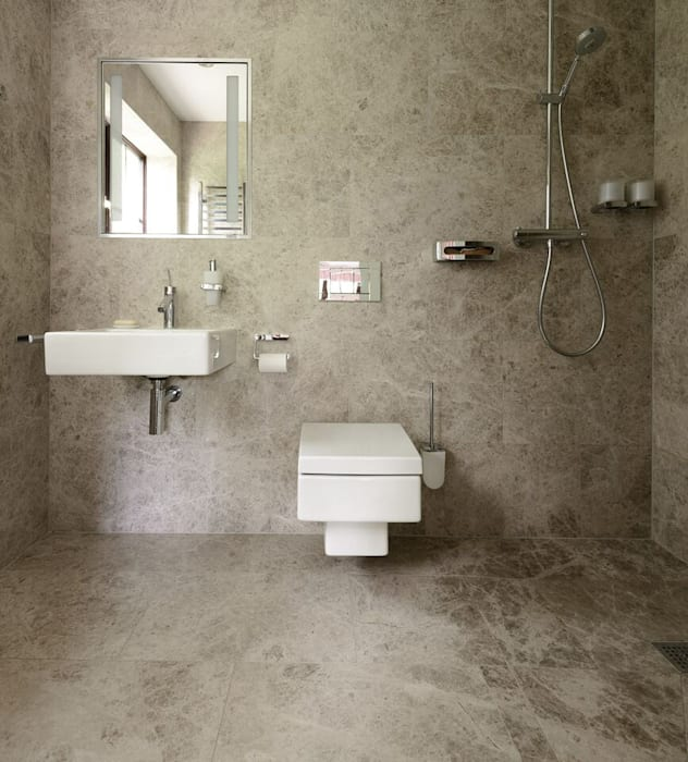 Silver Shadow Honed Marble by Floors of Stone Ltd Сучасний Мармур