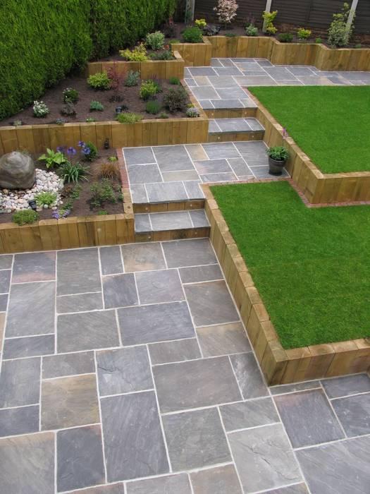 GALAXY SANDSTONE PAVING Jardines modernos: Ideas, imágenes y decoración de BARTON FIELDS LANDSCAPING SUPPLIES Moderno Arenisca