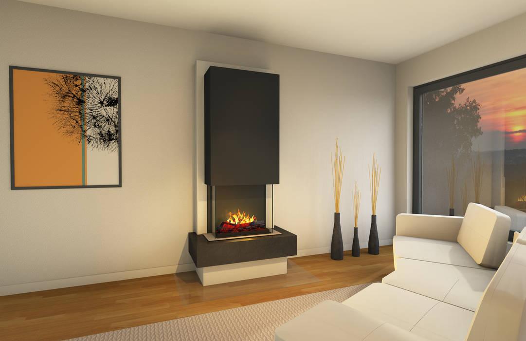 muenkel design - Elektrokamine aus Großentaft Living roomFireplaces & accessories Black