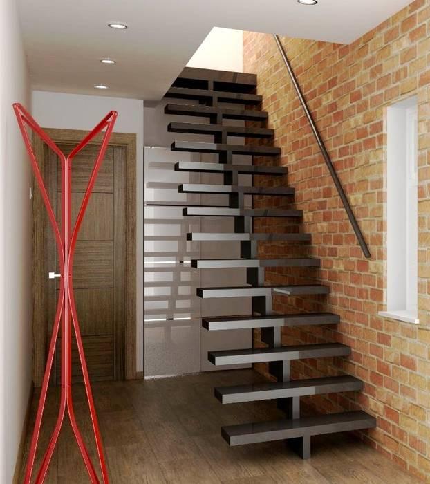 Hallway interior design Couloir, entrée, escaliers modernes par Lena Lobiv Interior Design Moderne
