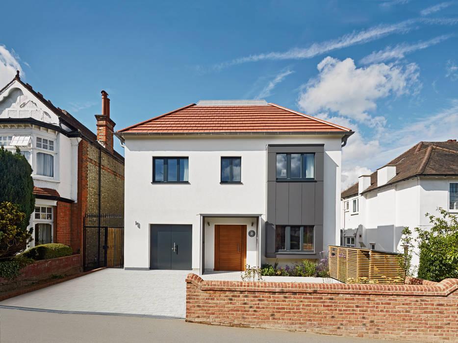 Exteriors Modern houses by Baufritz (UK) Ltd. Modern