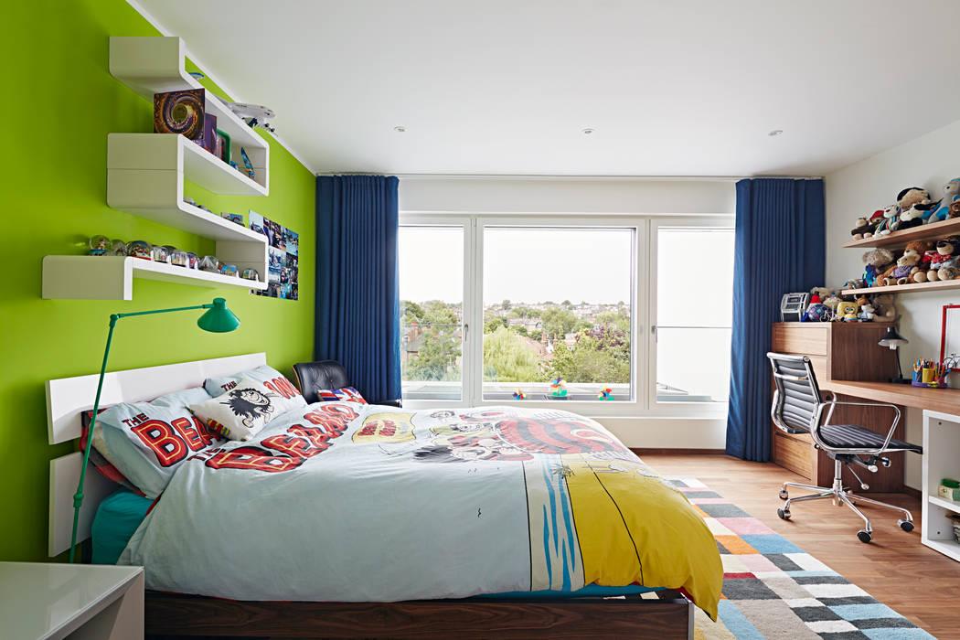 Bedroom Baufritz (UK) Ltd. Modern style bedroom