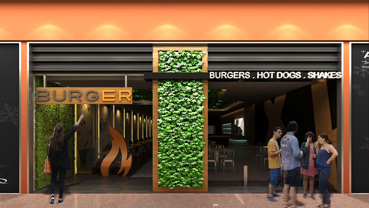 Burger: Restaurantes de estilo  por NOGARQ C.A.