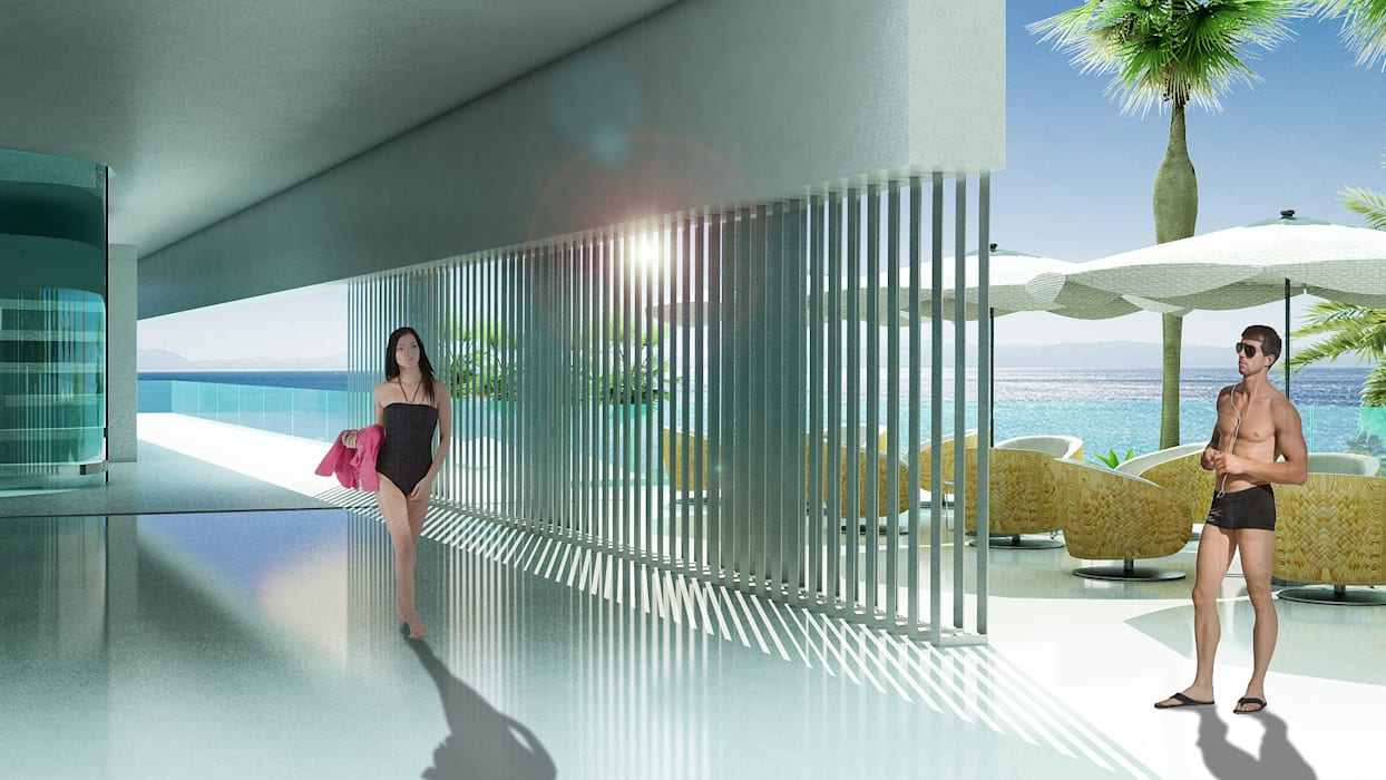 Leiros Hotel: Hoteles de estilo  por NOGARQ C.A.