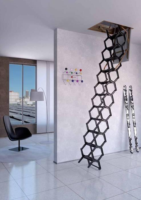 Escalera ideal para espacios muy pequeños de Rintal Minimalista Metal