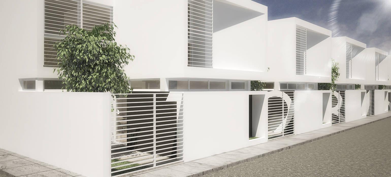 5 Casas: Casas de estilo  por RRA Arquitectura,