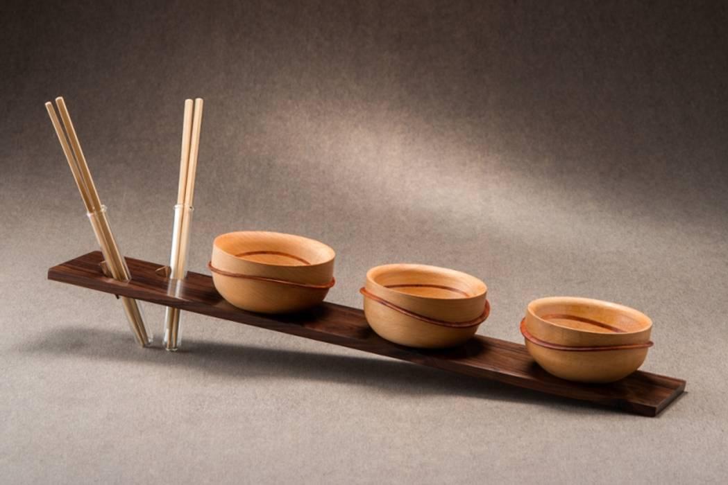 Chinese Waves por Wood and Mood Moderno Madeira Efeito de madeira