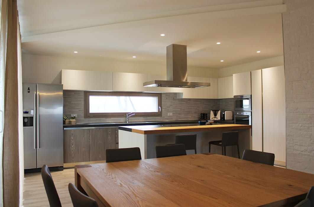 Cucina e sala da pranzo con termocamino sala da pranzo ...