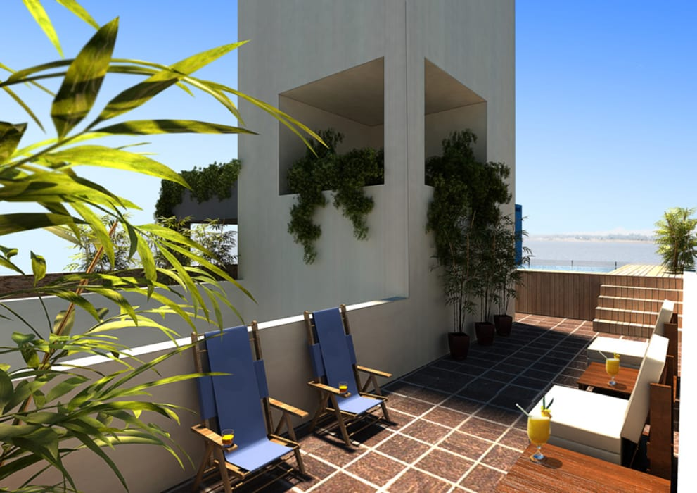 ENGEL arquitectos Modern style balcony, porch & terrace