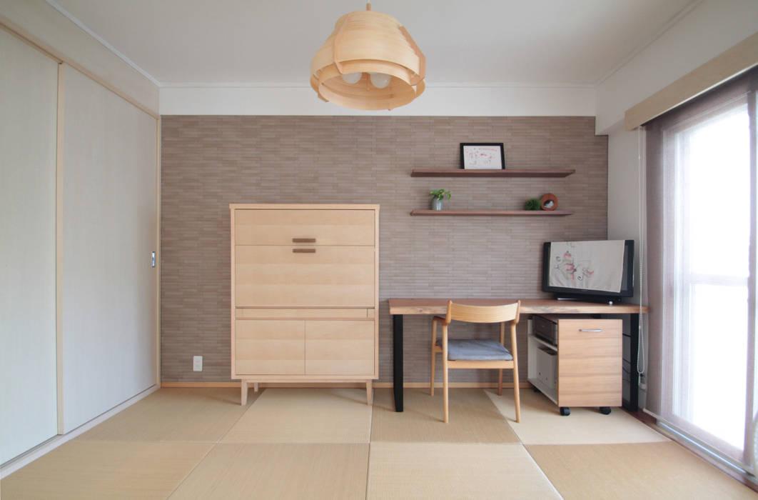 北欧スタイル和室: 池田デザイン室(一級建築士事務所)が手掛けたです。