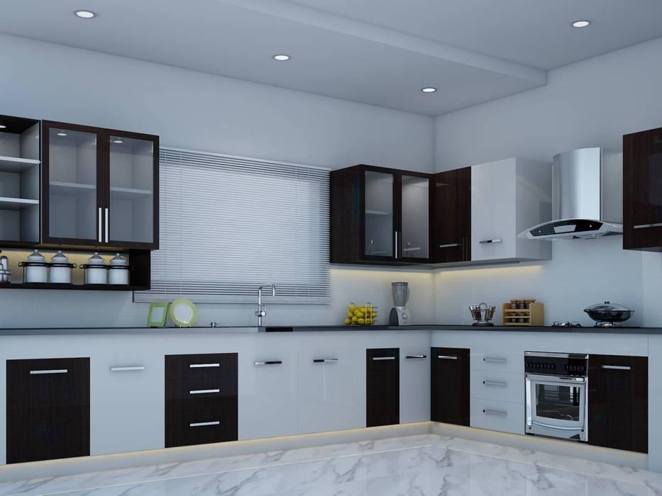 Cocinas de estilo moderno de I Nova Infra Moderno