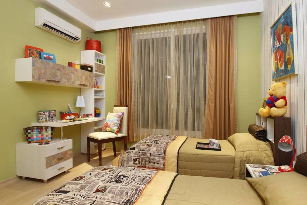 puzzle design on cabinet shutter Modern nursery/kids room by Tanish Dzignz Modern