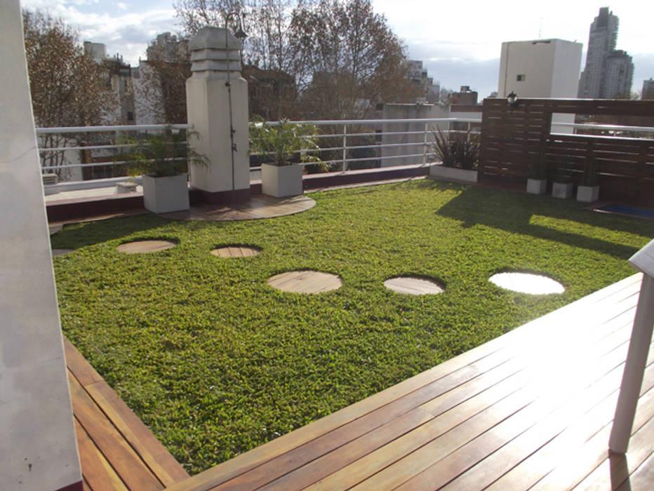 Q:BIO cubiertas biológicas Balcones y terrazas escandinavas de AR-SUS Escandinavo